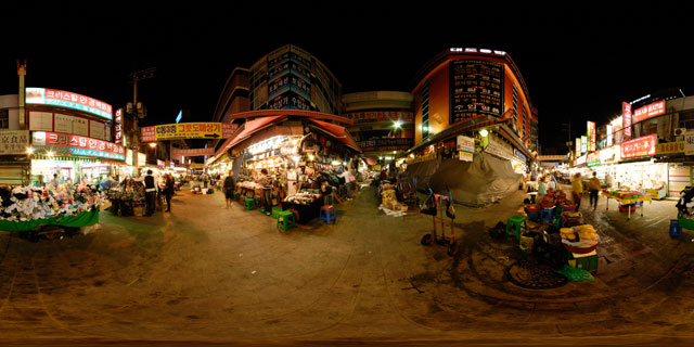 Seoul at night – Namdaemun Market 360° Panorama