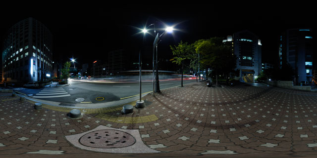Seoul at night – Young Nak 50th anniversary Memorial Hall and Samil-ro 360° Panorama