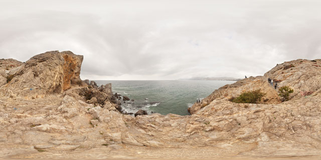 South-west Cape Alchak, Sudak 360° Panorama