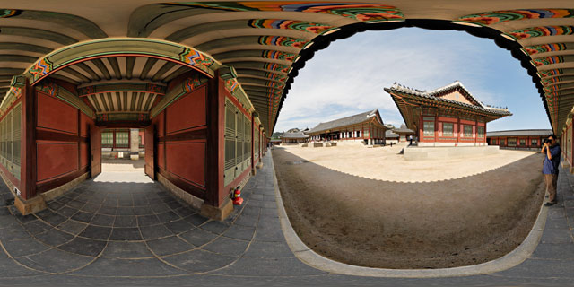 Southeast corner of Gangnyeongjeon Compound 360° Panorama