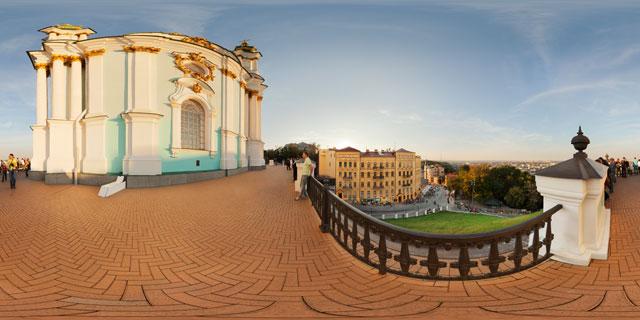 St Andrew's Church, Kiev 360° Panorama