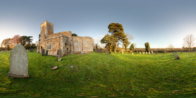 St. Nicholas Church, Marston Trussell 360° Panorama