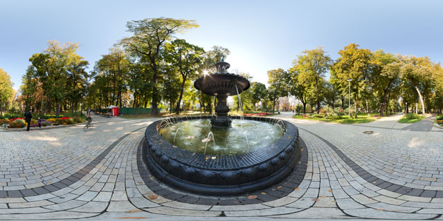 Termen Fountain in Mariinsky Park, Kiev 360° Panorama