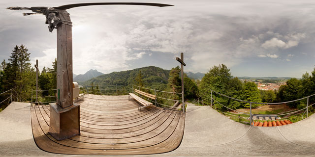 Top of Kalvarienberg, Füssen 360° Panorama