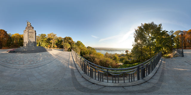 Viewpoint by Monument to Prince Volodymyr, Kiev 360° Panorama