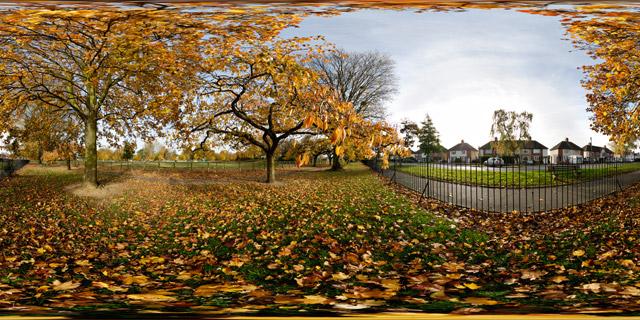 Welland Park in Autumn 6 360° Panorama