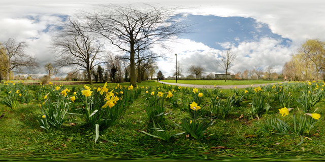 Welland Park in Spring 9 360° Panorama
