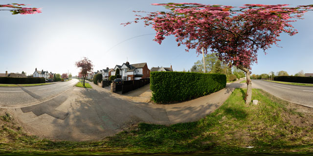 Welland Park Road in Spring 360° Panorama